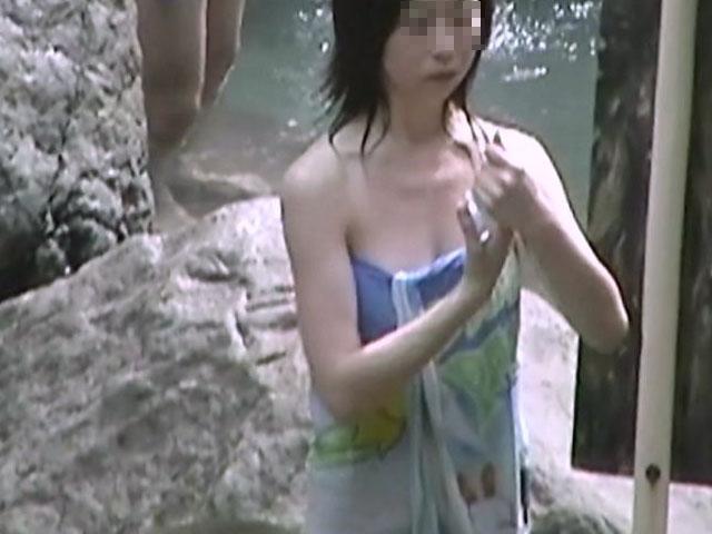 素人 - 秘湯!崖の下の楽園 part9