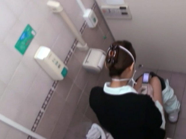 病棟の職員女子トイレ盗撮